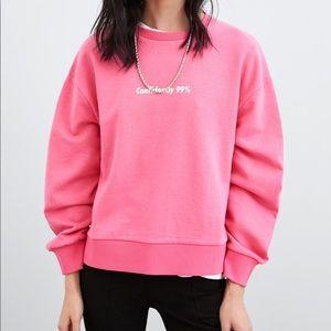 Front print text sweatshirt